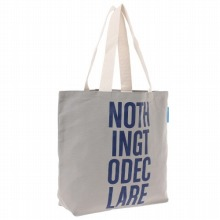 "<<Canvas Tote ""Nothing To Declare"">> トートバッグ キャンバストート / 50206-03"